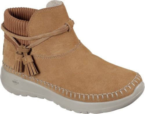 Skechers On-The-Go Joy Allure Ladies Ankle Boots Chestnut